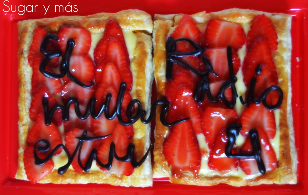 Tartaleta de hojaldre, crema y fresas