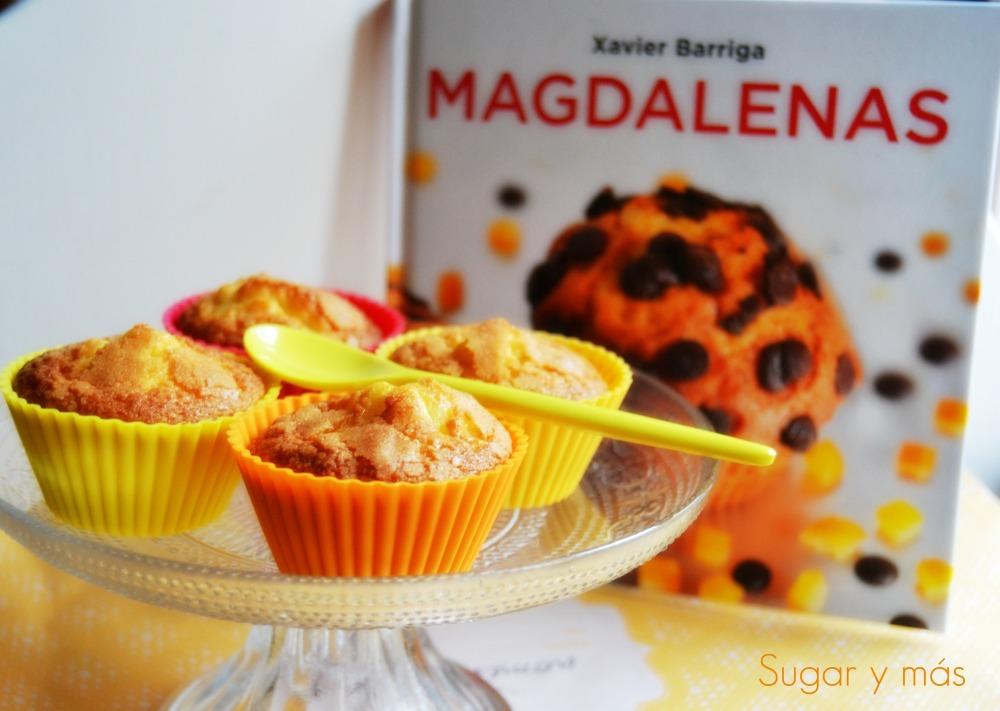 Magdalenas rellenas de mermelada de fresa