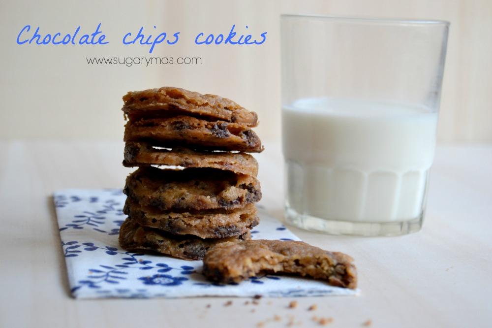 2Cookies con chips de chocolate